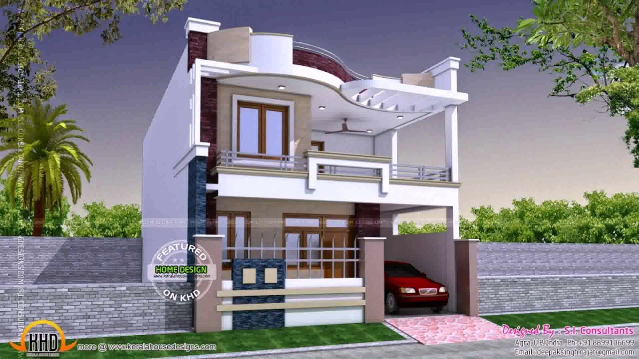 Modern House Design With Firewall Roof - Modern House