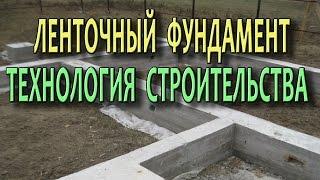 видео Ленточный фундамент в строительстве