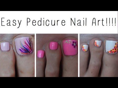 Easy Pedicure Nail Art Three Cute Designs
