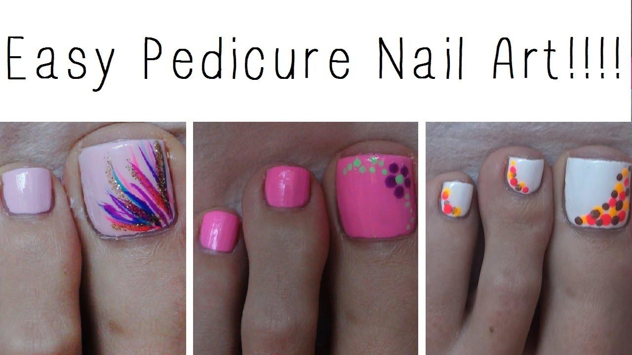 easy pedicure nail art three