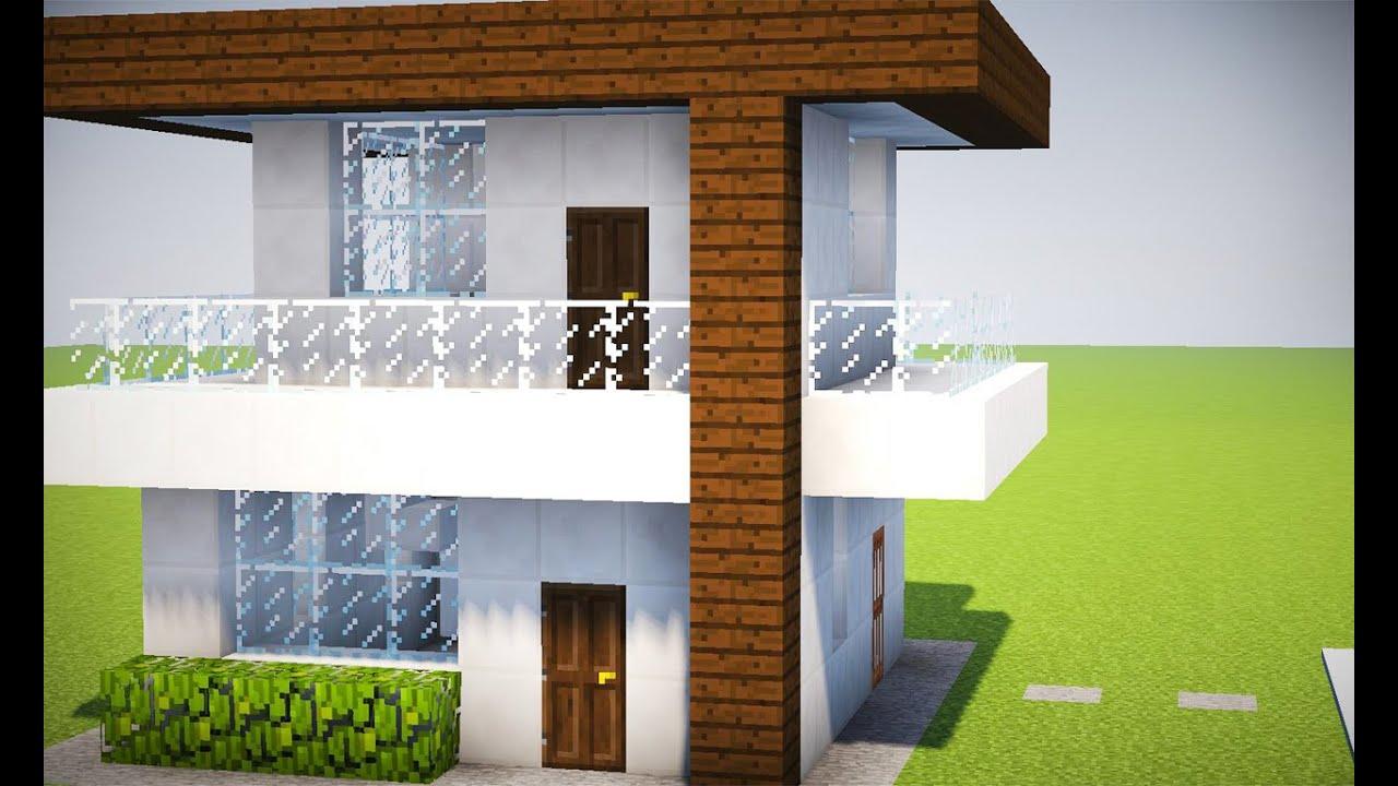 Minecraft tutorial casa moderna 212 youtube for Casa moderna facil minecraft tutorial