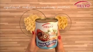 Szybki przepis na makaron z masą makową z bakaliami HELIO.