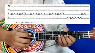 Learn how to play London Thumakda Ukulele tabs.