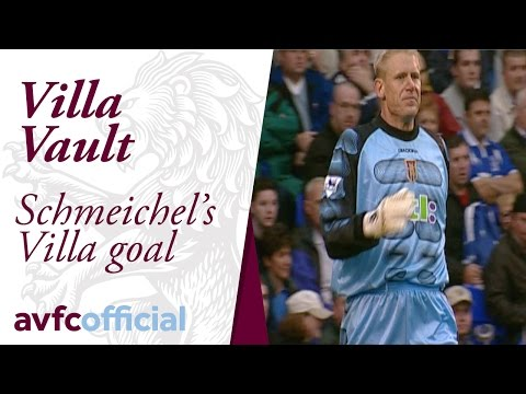 Peter Schmeichel's goal for Villa