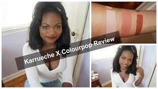 kaepop review swatches   karrueche x colourpop