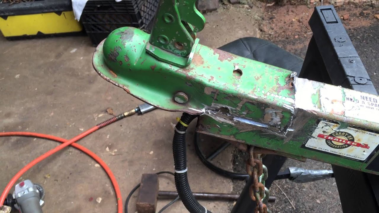 Diy Replace Your Trailer Tongue Hitch Youtube