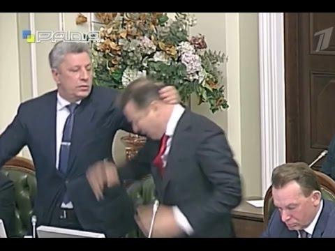 Лидеры «Оппозиционного блока» и Радикальной партии подрались на заседании совета Верховной Рады Укра