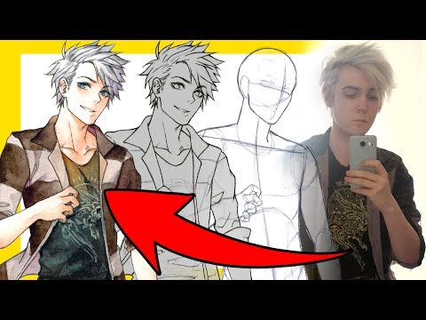 【How To Draw Yourself】as an Anime Character - Видео из ютуба