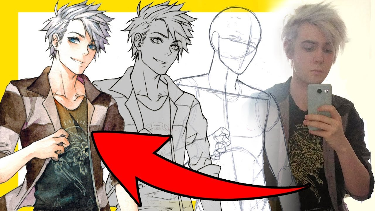 How To Draw Yourself】as an Anime Character - YouTube