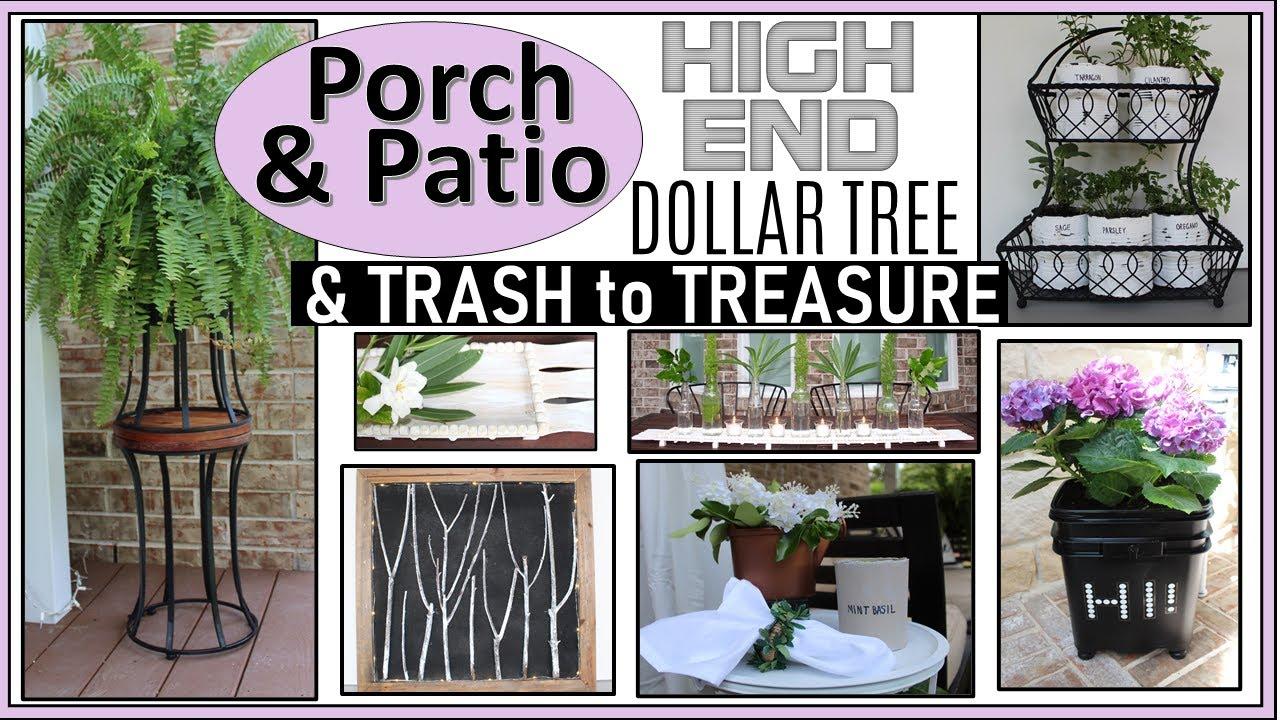 high end dollar tree diy trash to treasure porch and patio decor farmhouse modern boho