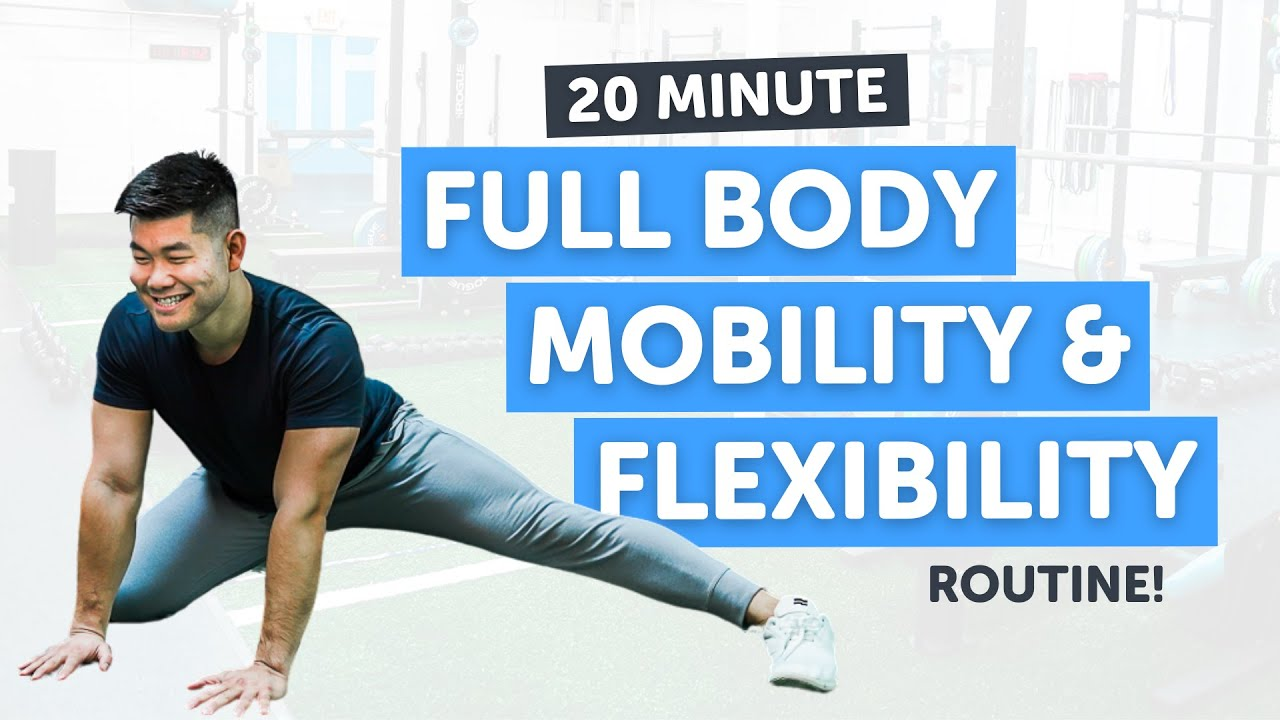 Download 20 Minute Full Body Flexibility and Mobility Routine!   Follow Along   No Equipment!
