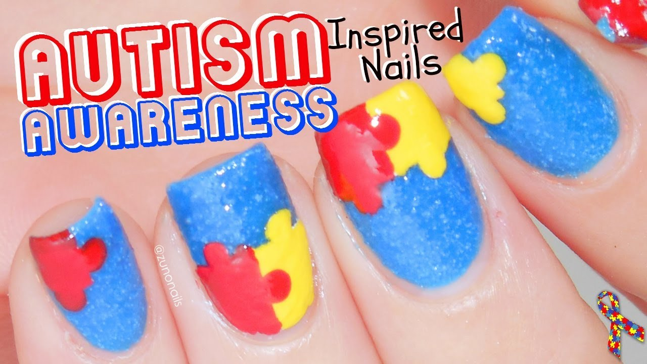 Autism Awareness | Puzzle Nail Art Tutorial by ZunoNails - YouTube