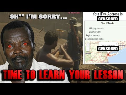 African Rebel Teaches Guy A LESSON On Red Dead Redemption 2 Online 😈 KONY