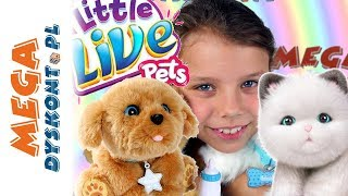 Little Live Pets • Kotek i piesek • Interaktywne zwierzęta • Cobi • Openbox