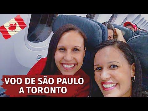 VOANDO DE AIR CANADA - DE SÃO PAULO A TORONTO