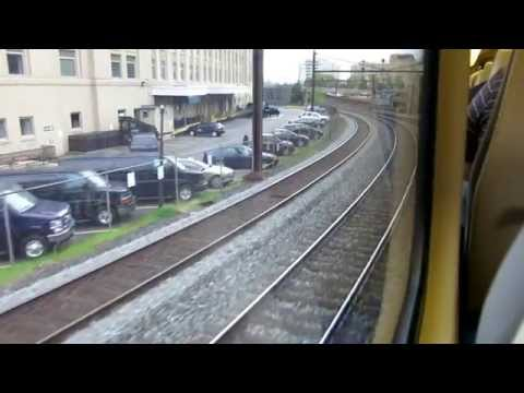 VRE train ride from Washington DC Union Station to Franconia Springfield station.