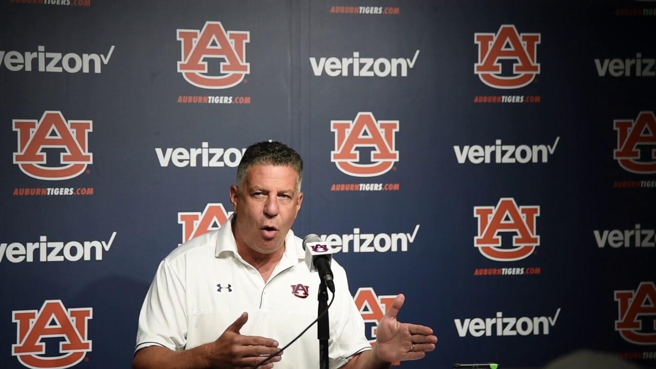 Auburn Head Basketball Coach Bruce Pearl Talks After Assistant Coach Arrest