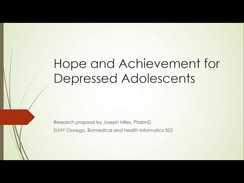 Hope and Achievement for Depressed Adolescents (Research Proposal)
