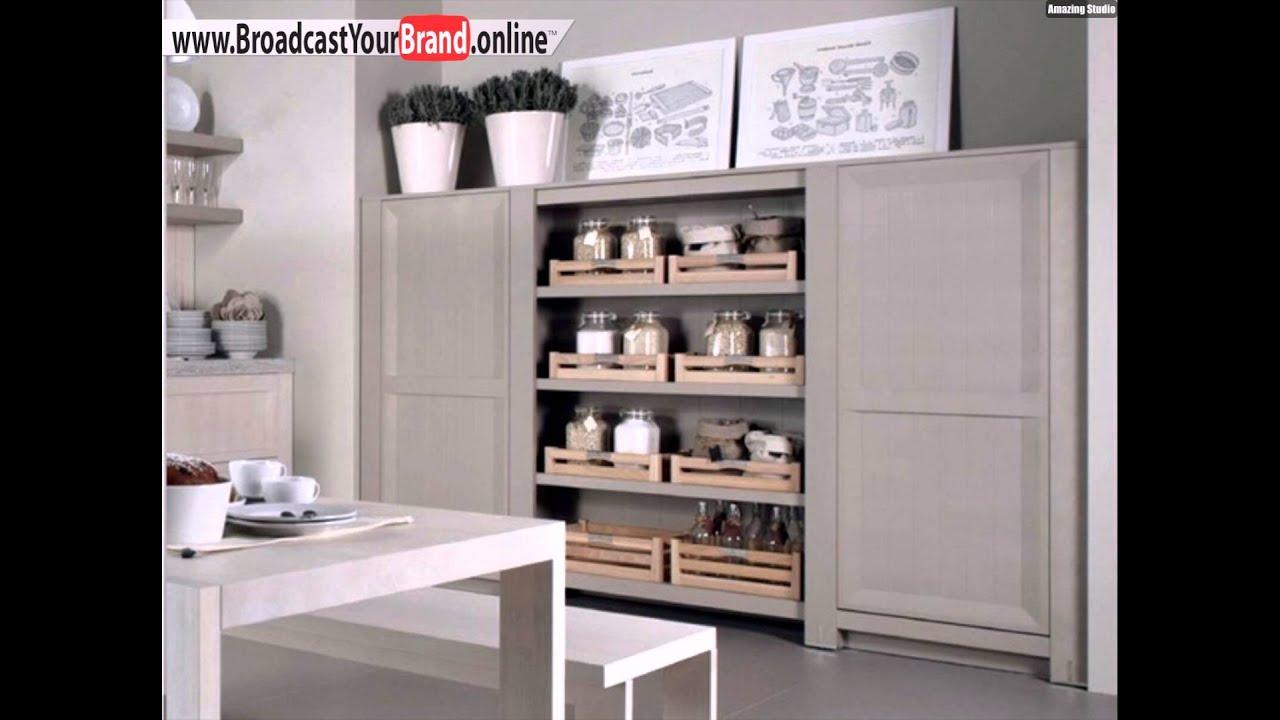 Puristische Kücheneinrichtung Regale Holz Möbeldesign Dica - YouTube