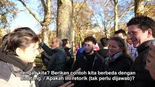 MELEGALKAN RUMAH BORDIL! - Mansur Vs Pasangan Atheist - Speakers Corner