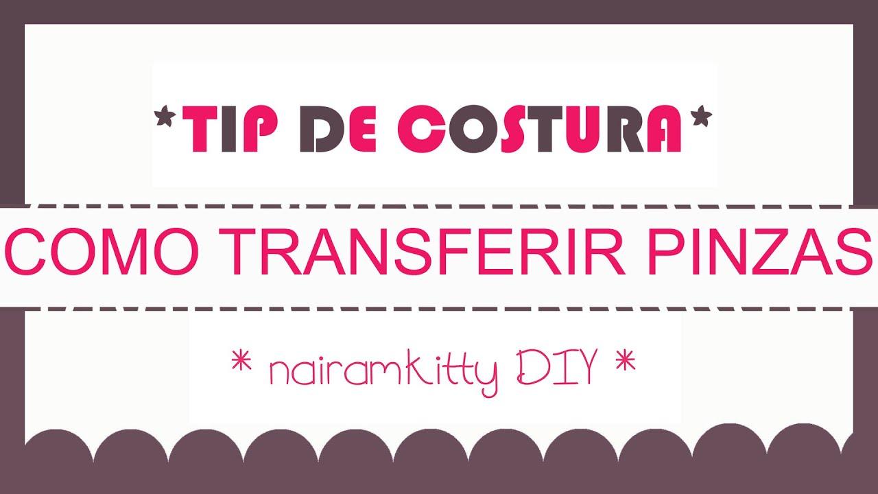 COMO TRANSFERIR PINZAS DEL PATRÓN A LA TELA. TIP DE COSTURA - YouTube