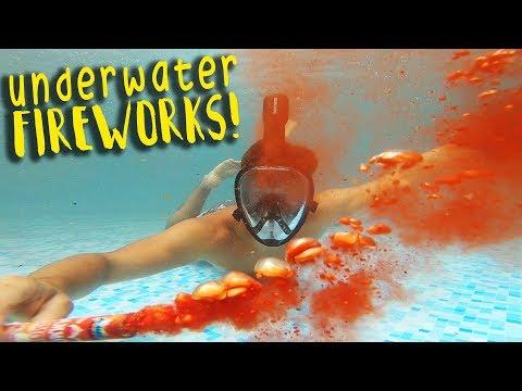 INCREDIBLE Firework Show in Pool! 🇺🇸