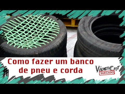 tutorial suecado como fazer um banco de pneu youtube. Black Bedroom Furniture Sets. Home Design Ideas