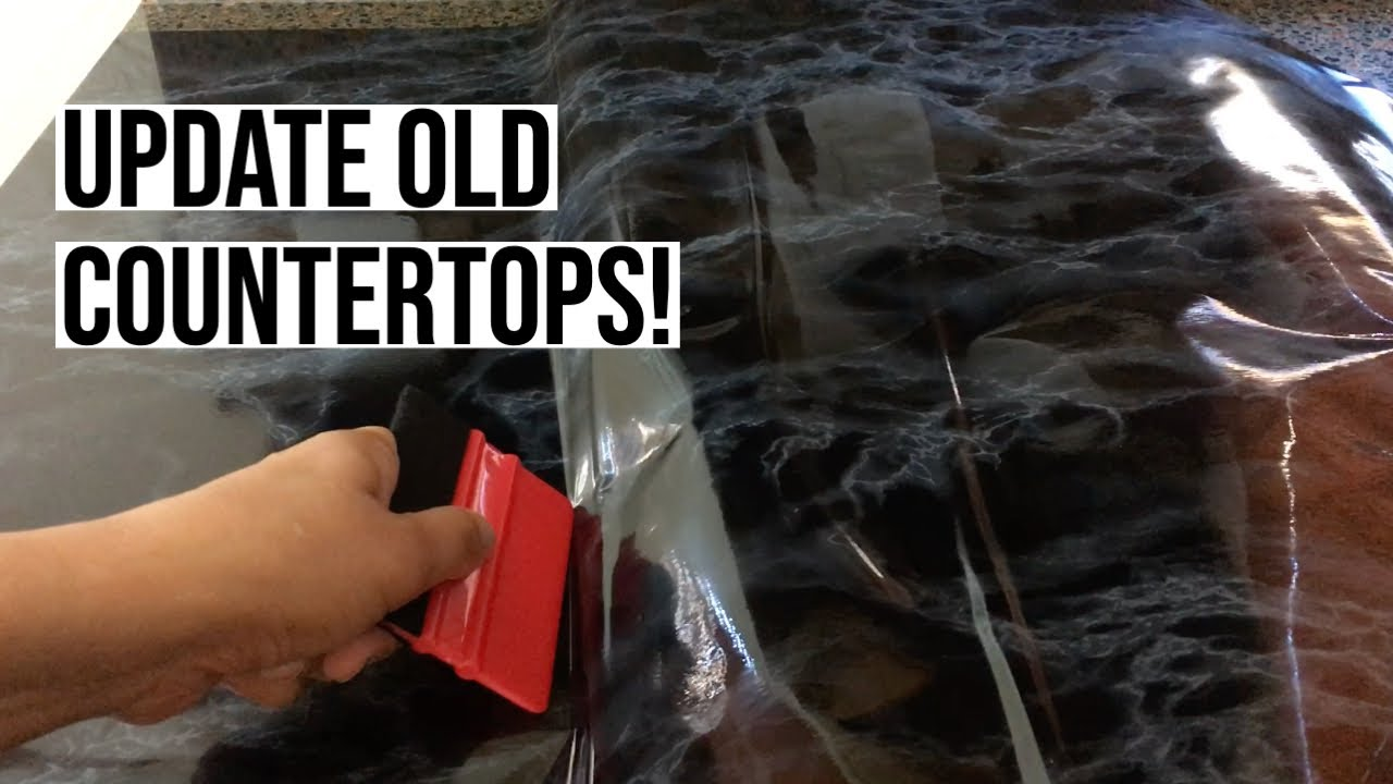 Changing up a worktop easily with d-c-fix self-adhesive films - YouTube