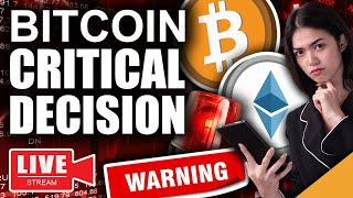 Warning!! Bitcoin Massive MOVE Incoming (Dangerous Decision Point)
