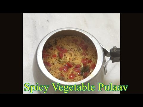 Spicy vegetable Pulao (with some tips)