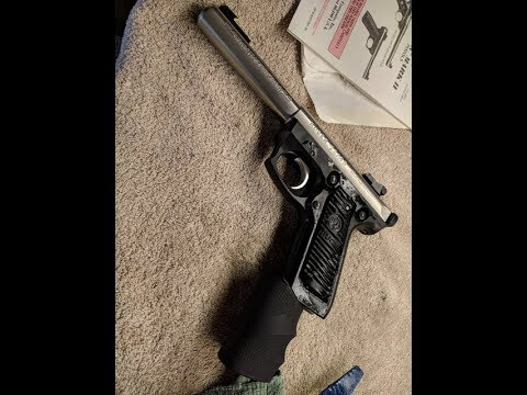 Shooting Ruger 22 45 cleaning with a Hogue grip by froggy