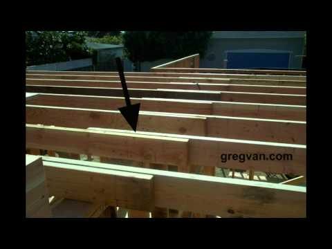Wood Framing Ceiling Joist Laps Connections - Home Building Tips