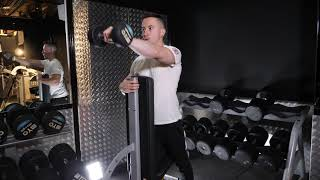 Bench isolated dumbbell single front raise