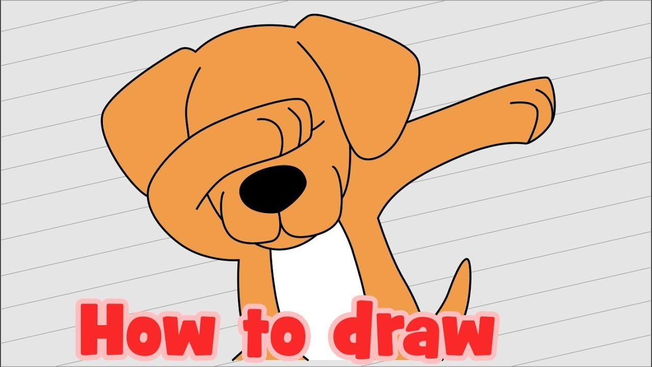 How To Draw A Puppy Dabbing