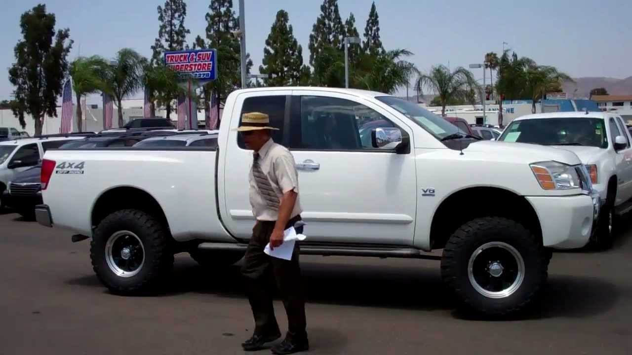 110322 2004 NISSANOFF ROAD LIFTED TITAN KING CAB 4WD - YouTube
