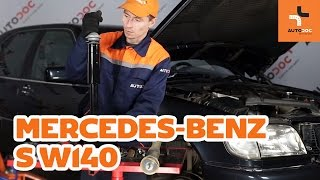 How to replace front shock absorbers Mercedes-Benz S W140 TUTORIAL | AUTODOC