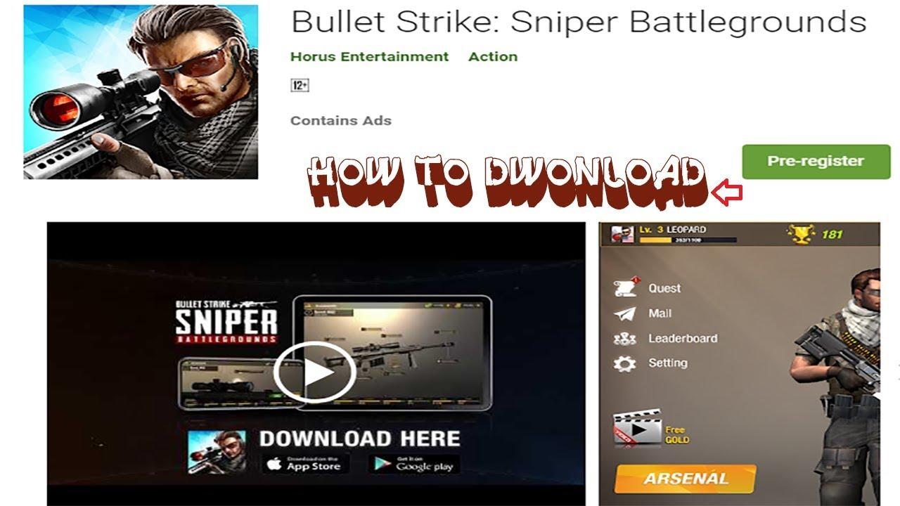 How To Download Bullet Strike Sniper Battlegrounds Apk