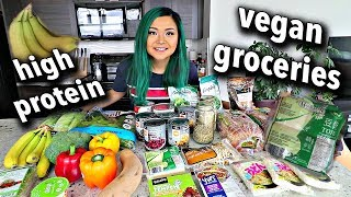 HIGH PROTEIN VEGAN GROCERY HAUL (BUDGET FRIENDLY)