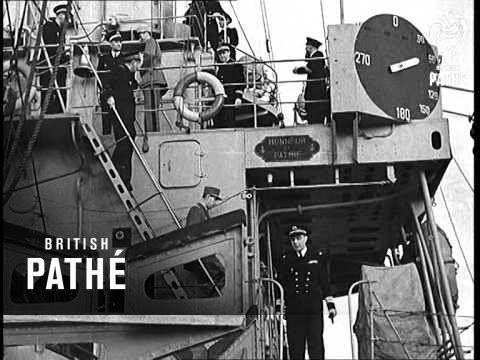 General De Gaulle Visits Free French Navy (1940)