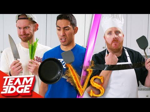 Brooksie - Amateurs vs One-Handed Chef! Can They Beat a Pro?