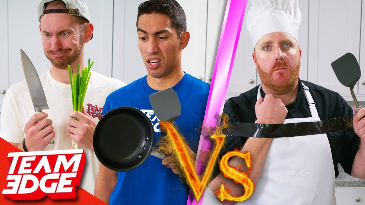 amateurs-vs-one-handed-chef-can-they-beat-a-pro