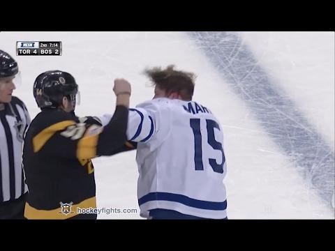 Matt Martin vs Adam McQuaid Feb 4, 2017