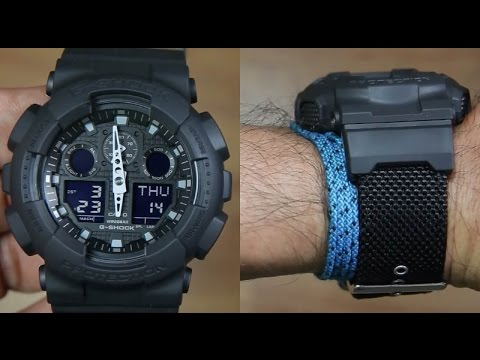 Casio G Shock Ga 100bbn 1a Cloth Band Unboxing