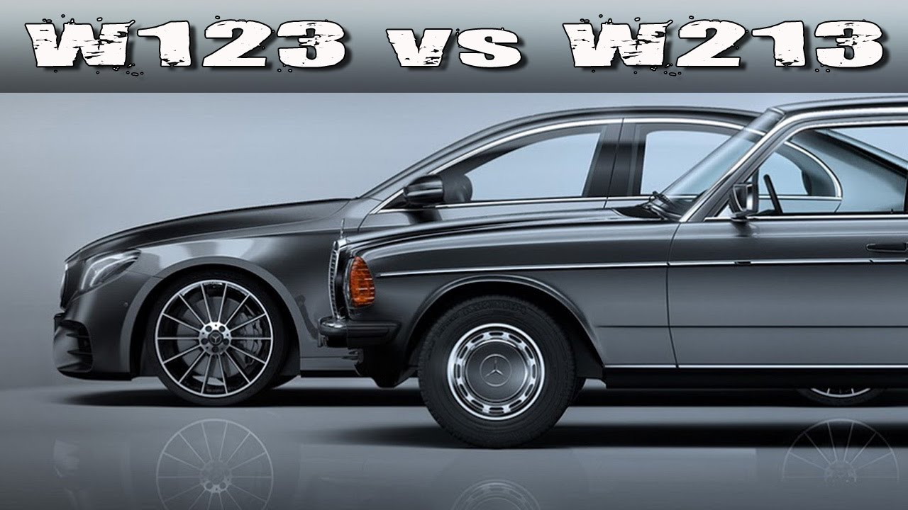 mercedes benz e class w123 vs w213 40 years of design evolution youtube. Black Bedroom Furniture Sets. Home Design Ideas