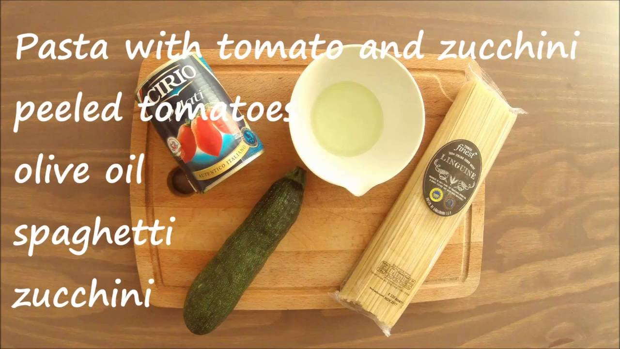 Pasta with tomato and zucchini - baby food 8+ month ...