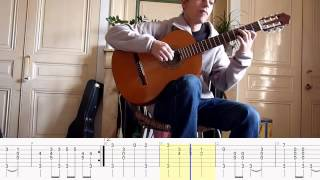 La Danse des Canards - TABLATURE Picking pour guitare fingerstyle
