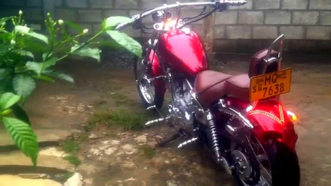 Yamaha Virago 250 Customized In To Chopper Sri Lanka