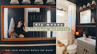 DIY Small Bathroom Moody Makeover