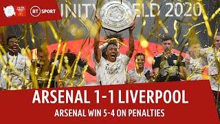 Arsenal vs Liverpool (1-1, 5-4 on pens) | 2020 Community Shield highlights