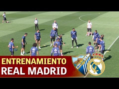 Entrenamiento completo Real Madrid previo al Málaga | Diario AS